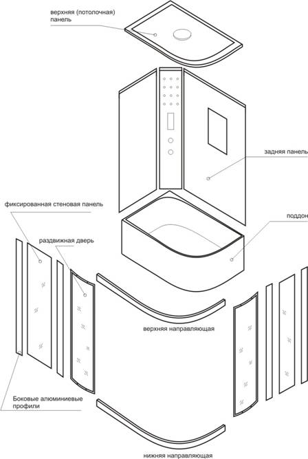 Инструкция по установке, сборке и эксплуатации душевой кабины T-1110, Т-1120.