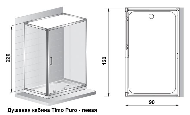 Душевая кабина Timo Puro